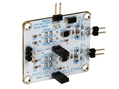 - Velleman CLASS D AUDIO AMPLIFIER - STEREO 2.8 W (MM210)