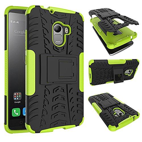 Para Lenovo Vibe K4 Note / Lenovo Vibe X3 Lite (5,5 pulgadas) Cáscara Armadura Combo ZeWoo® Carcasa y Funda de Silicona - HH006 / Rodadura antideslizante (verde)