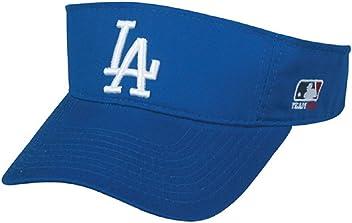 Los Angeles Dodgers MLB OC Sports Sun Visor Golf Hat Cap Royal Blue w  White 9a24529356a3