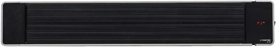 TROTEC Calefactor por radiación de luz negra IRD 1800| Radiador Infrarrojo | Para exteriores | Radiadores de terraza| 1.800 W | IP55 clase de protección | Incluye soporte de pared y techo