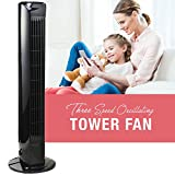 HowPlumb Oscillating 31-in. 3 Speed Tower Fan with Remote and Electronic Countdown Timer