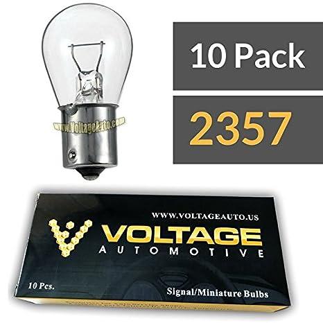 Voltage Automotive Standard Replacement 3157 Automotive Brake Light Turn Signal Side Marker Tail Light Bulb 10 Pack