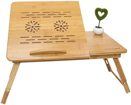 ZPWSNH Cama Plegable portátil Tabla de bambú La Altura y el ángulo ...