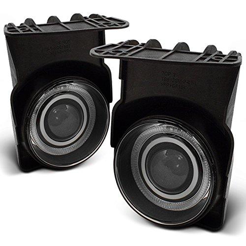 (For GMC Sierra 1500 2500 3500 HD C3 Pickup Truck Halo Projector Fog Light Lamp w/accessories Pair)
