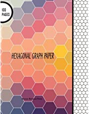 """Hexagonal Graph Paper: Hexagon Notebook Paper: 100 Pages, 8.5"""" x 11"""" Large Line Drawn Hexagon Shapes For Creative Crafts, Quilting, Design, Drawing"""