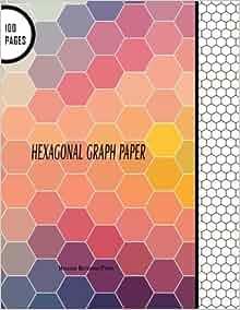Hexagonal    Graph Paper     Hexagon    Notebook    Paper  100 Pages  85  x 11  Large Line Drawn Hexagon