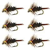 6pcs / Half Dozen Fly Fishing Bead Head Prince Nymph 12# 14# 16# NEW