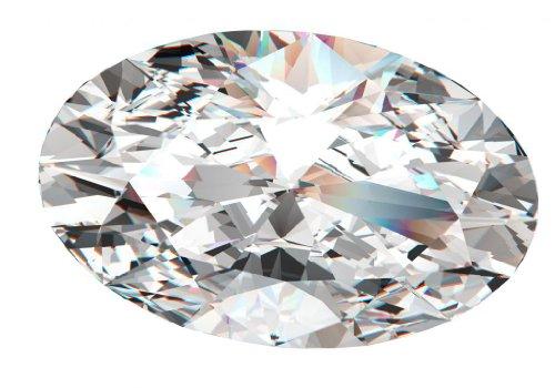 Diamant Ovale taillés (0.48 Ct, F Couleur,VVS1 Clarté)