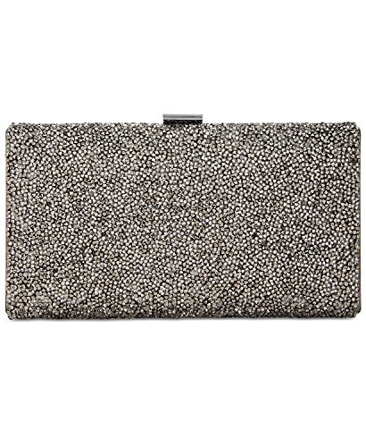 Metallic Silver I Hardware Rhinestone N Clutch Pewter C Luciee Party fqqwptxRP