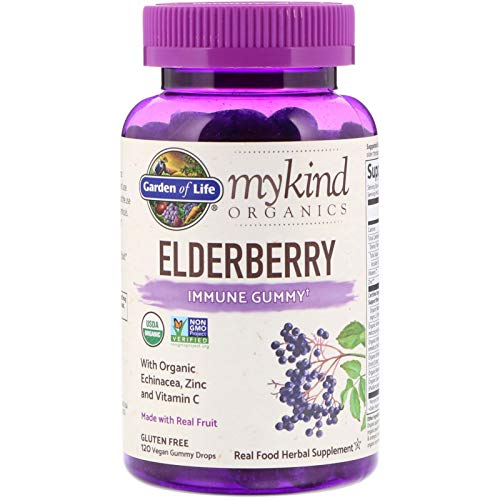 - Garden of Life, MyKind Organics, Elderberry, Immune Gummy, 120 Vegan Gummy Drops