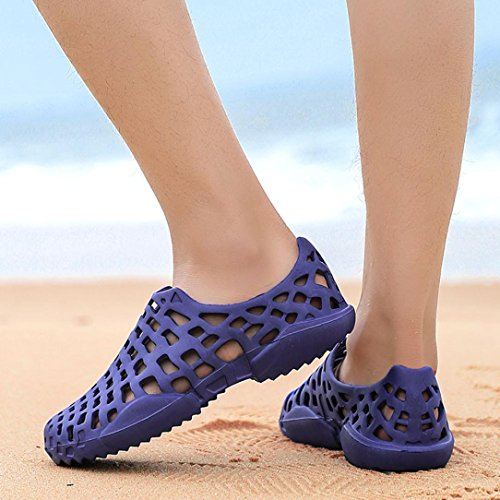Unisex Clogs OverDose Lightweight Gardening Super Soft Clogs Beach Slip-On Sandal Blue 21TCRPw5g