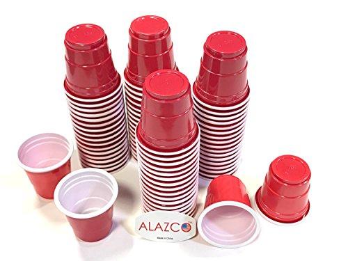 72pc ALAZCO Red Mini Shot Cup Set (2-Ounce) Fun Mini Snac...