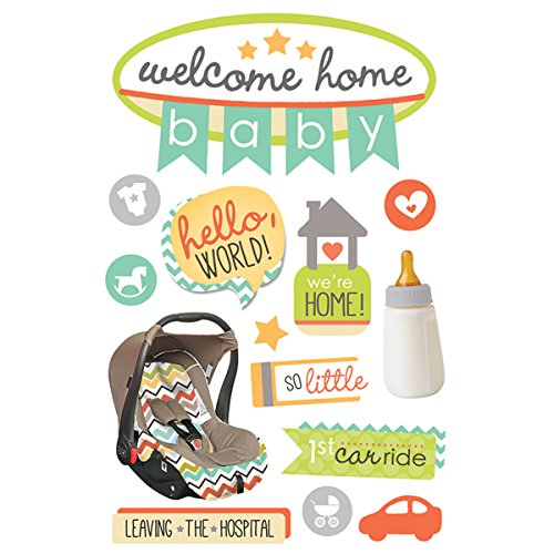 Daisy D Scrapbook Paper (Paper House Productions STDM-0264E 3D Stickers, Welcome Home Baby)