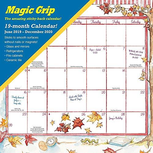 2020 Joyful Seasons Magic Grip Wall Calendar, by Calendar Ink (Best Stainless Refrigerator 2019)
