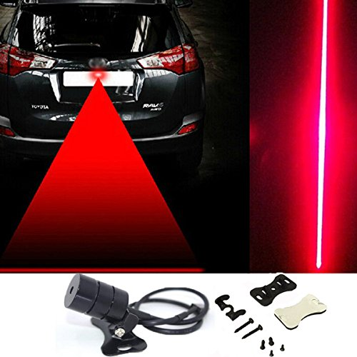 Grikey Car Fog Laser Light Rear Anti-collision Rear-end Laser Lamp Waterproof Auto Brake Parking Tail light Safety Warning Lights