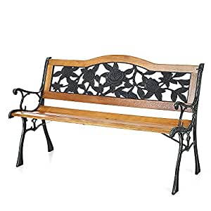 B01GCS3GAY on Amazon Cast Iron Benches Outdoor Furniture