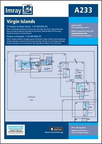 Download Imray Chart A233: Virgin Islands - Double-Sided Sheet Combining Charts A231 and A232 (Iolaire Charts) ebook
