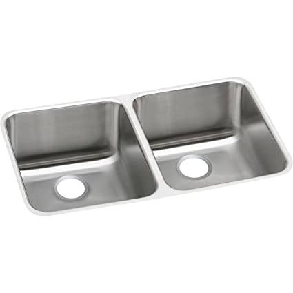 Double Bowl Undermount Stainless Steel Kitchen Sink Elkay lustertone eluh311810 equal double bowl undermount stainless elkay lustertone eluh311810 equal double bowl undermount stainless steel kitchen sink workwithnaturefo
