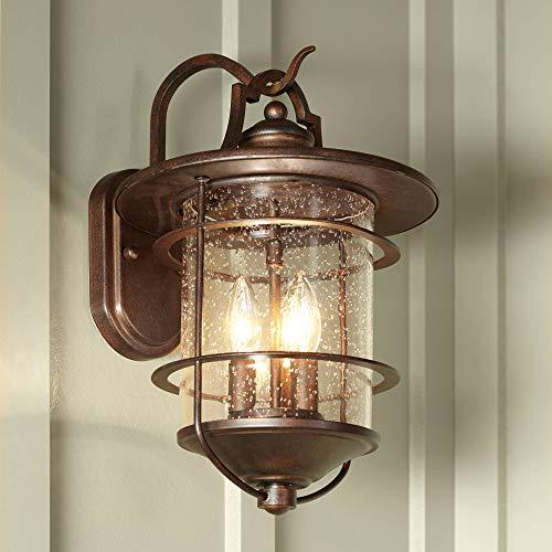 - Casa Mirada Industrial Rustic Outdoor Light Fixture Bronze 16 1/4