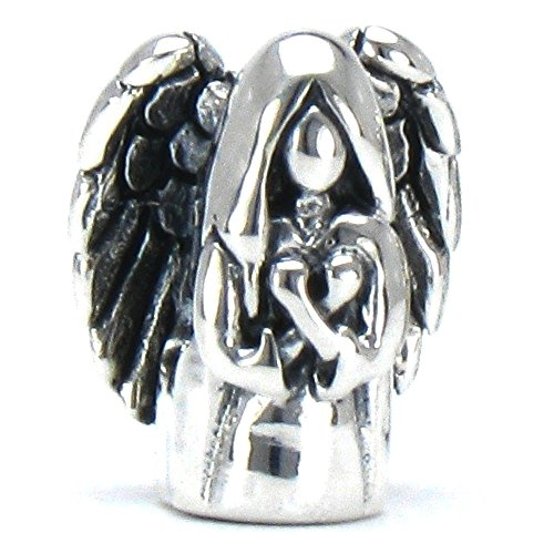 BELLA FASCINI Guardian Angel Memorial European Bead Charm Fits All Compatible Bracelets and Bangles