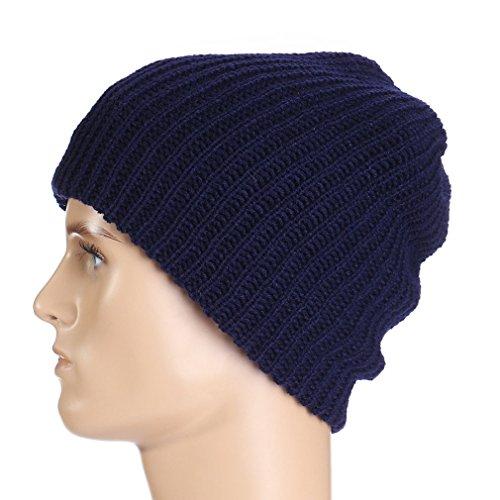 Bonnet Femme Chaud Unisexe Marine Acvip Pour Chapeau Bleu Tricoté Extérieur Rayures Mode Hiver Homme wR6Iq6Z