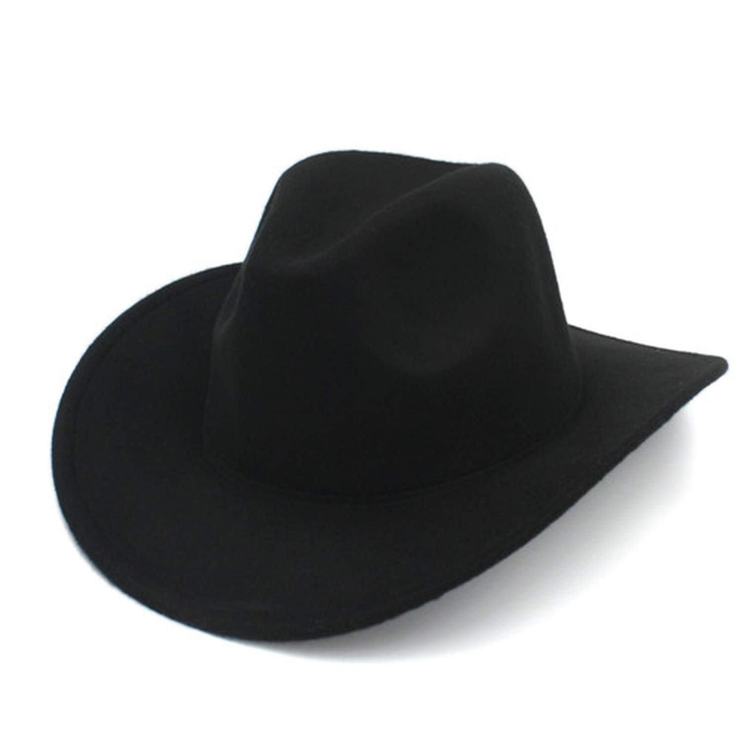 KKONION Fashion Winter Autumn Wool Men Women Fashion Felt Fedora Hat Western Cowboy Cowgirl Cap Jazz hat