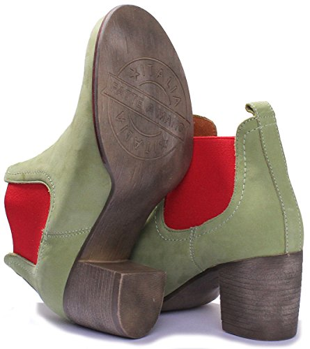 Boot on All Heel Justin Soft Green Womens Leather Reece Pull Chelsea wxqq0Hnzf