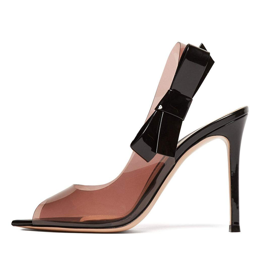 女性ファッション尖った魚口ハイヒール透明pvc露単一靴セクシーな宴会ファッションサンダル