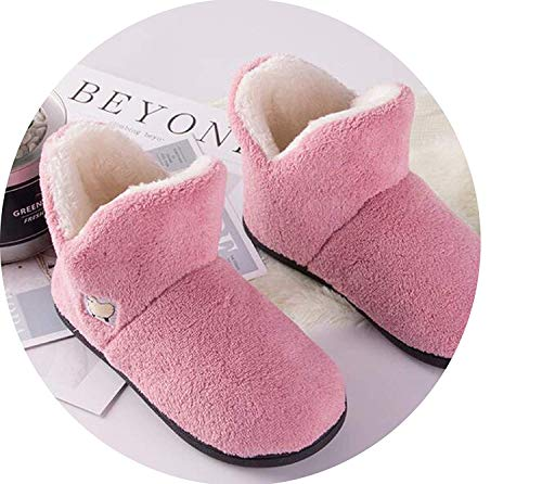 Home Slipper UnSec Family Shoes No-Skid Plush Warm Shoes Women Slipper Winter ()