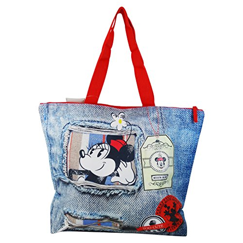 Disney Minnie Denim Bolso de Mano Para Mujer Chica para la Playa y lo Shopping Fashion