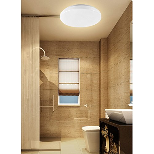 fluorescent lights kitchen le 12w 11 inch warm white led ceiling lights waterproof 1033