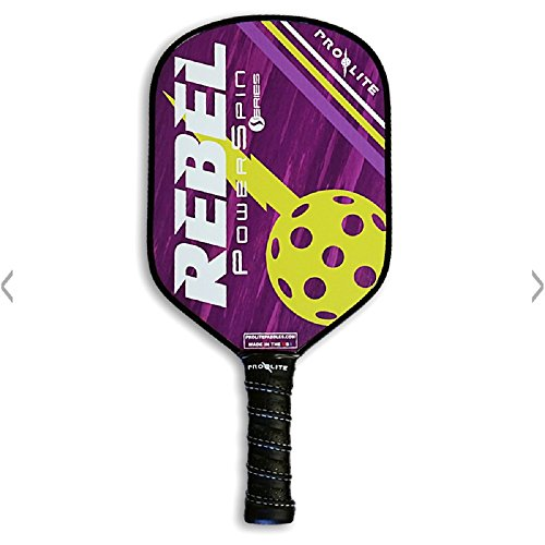 Pro-Lite Rebel PowerSpin Composite Pickleball Paddle (Prince Purple / Blondie Yellow)