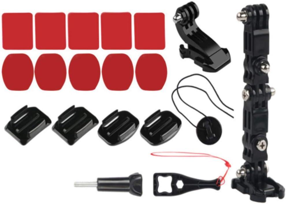 Soldmore7 Kit de Fixation pour Casque de Moto Casque de Moto pi/èces universelles Support Fixe pour cam/éra de Sport Accessoire de Voiture de Sport