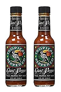 Tropical Pepper Hot Ghost Pepper Sauce, 5 oz (Pack of 2) by TROPICAL PEPPER