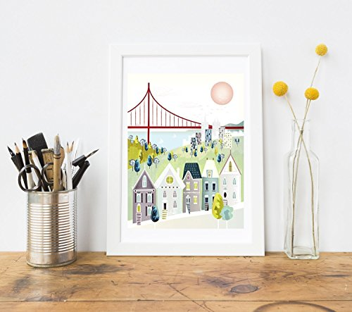 san-francisco-print-golden-gate-bridge-hill-houses-wall-art-poster-offered-in-small-medium-and-large