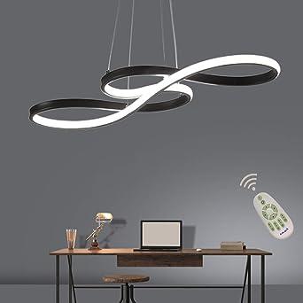 Lámpara LED de diseño para mesa de comedor regulable con mando a ...
