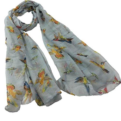 BSGSH Bird Printing Scarves for Women Soft Light Weight Elegant Scarf Wrap Shawl Stole Pashmina (Gorgeous Printing)