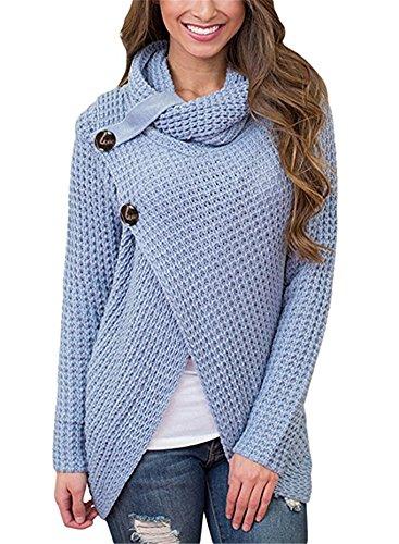 Light Blue Cardigan Sweater - 7