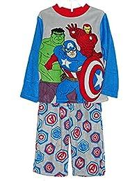 Marvel Avengers Boys Size 10 Plush Bathrobe and Fleece Pajama Set