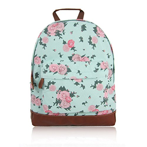 Kids Style Designer JC Print Craze Canvas KIDS New 'Back Turquoise Backpack Bag Flower London Collection School' to Childrens Blossom xgRRO1XFq