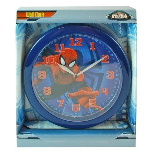 Spiderman Wall Clock Marvel Ultimate Spiderman Wall Clock: Quartz Accuracy, Easy Wall Mounting. Battery Operated Requires 1 Aa Battery (Not Included