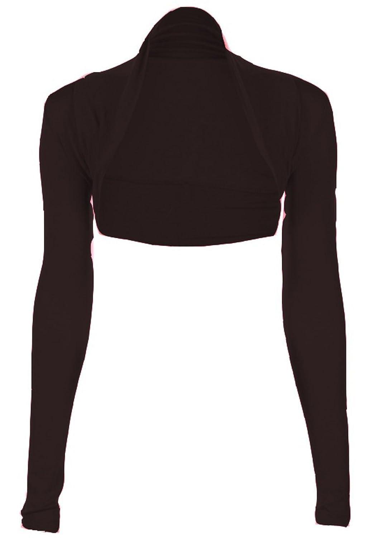Fashion Victim, Ladies Long Sleeve Bolero Shrug, Cardigan in Black ...
