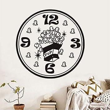 Lvabc Dibujos Animados Creativos Palomitas De Maíz Pegatinas De Pared Lindo Extraíble Cocina Etiquetas Engomadas Del Refrigerador Sala De Cocina Reloj ...