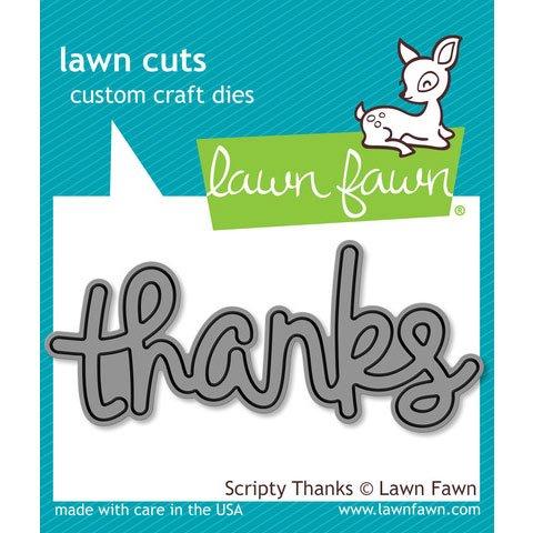 LF690 Lawn Fawn Die Cuts - Scripty Thanks