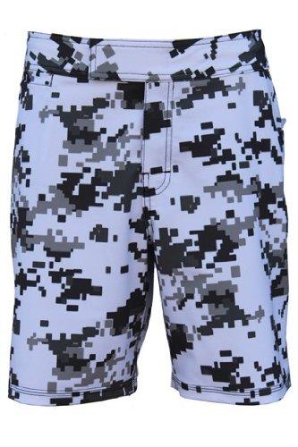 UN92 MC11 Men Digital Camo Short White_34, 4-Way Stretch (White Digital Camo Shorts)