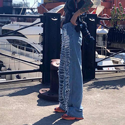 Americani Allentato Blu Dimensioni Europei Blu Rxf Donna L Foro Casual Jeans E Da Pantaloni Con colore nvS07