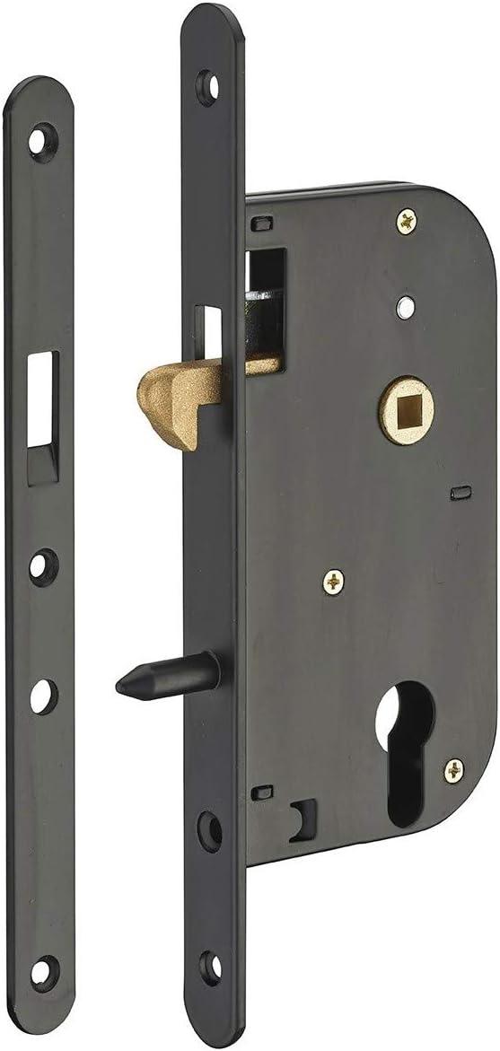 Serrupro - Caja Cerradura Empotrable para Puerta Corredera con Barbilla - V/BR: Amazon.es: Bricolaje y herramientas