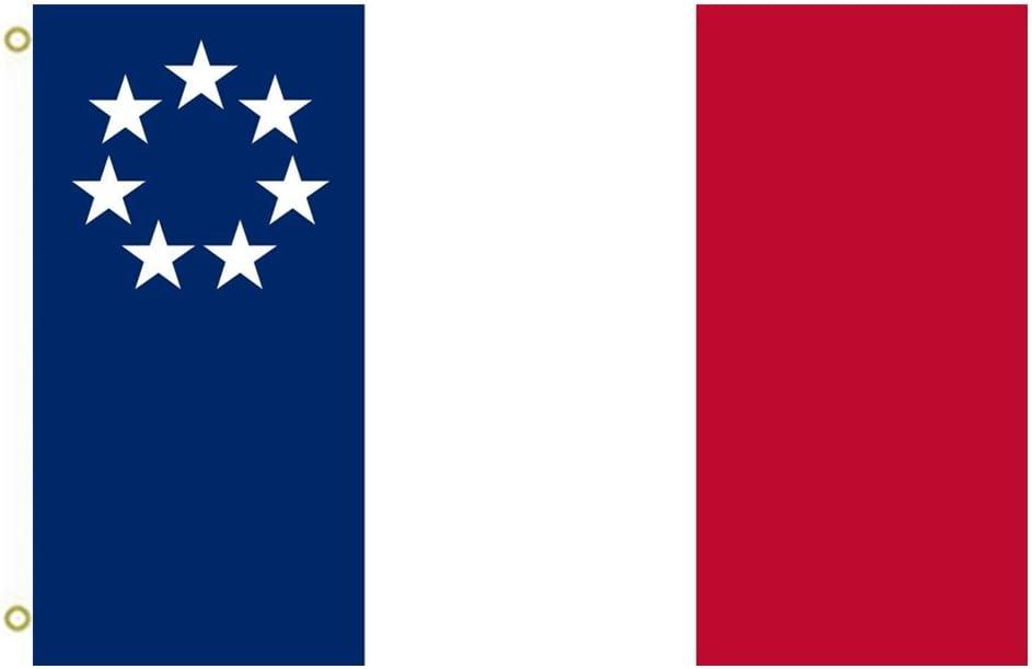 Gran bandera de Louisiana de la bandera de enero de 1861 NO OFICIAL bandera de Luisiana bandera al aire libre bandera bandera 3 x 5ft Banner: Amazon.es: Deportes y aire libre