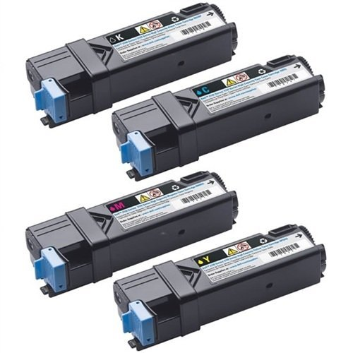 GLB Dell 2130 High Yield Compatible Toner Cartridges Set (Black , Cyan , Magenta , Yellow) For Dell 2130 2130CN 2135 2135CN - 330-1436 330-1437 330-1433 330-1438