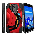 LG Stylo 3 Slim Case, Stylo 3 Plus Kickstand Case [SHOCK FUSION] Slim Fitted Heavy Duty Impact Hard Kickstand Defender Case by Miniturtle - Red Basketball
